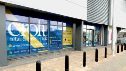 Croft Retail & Leisure Park Hoarding Design & Window Vinyls