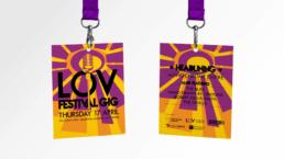LOV Festival Lanyards