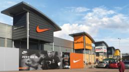 Enfield Retail Park Nike Hoarding