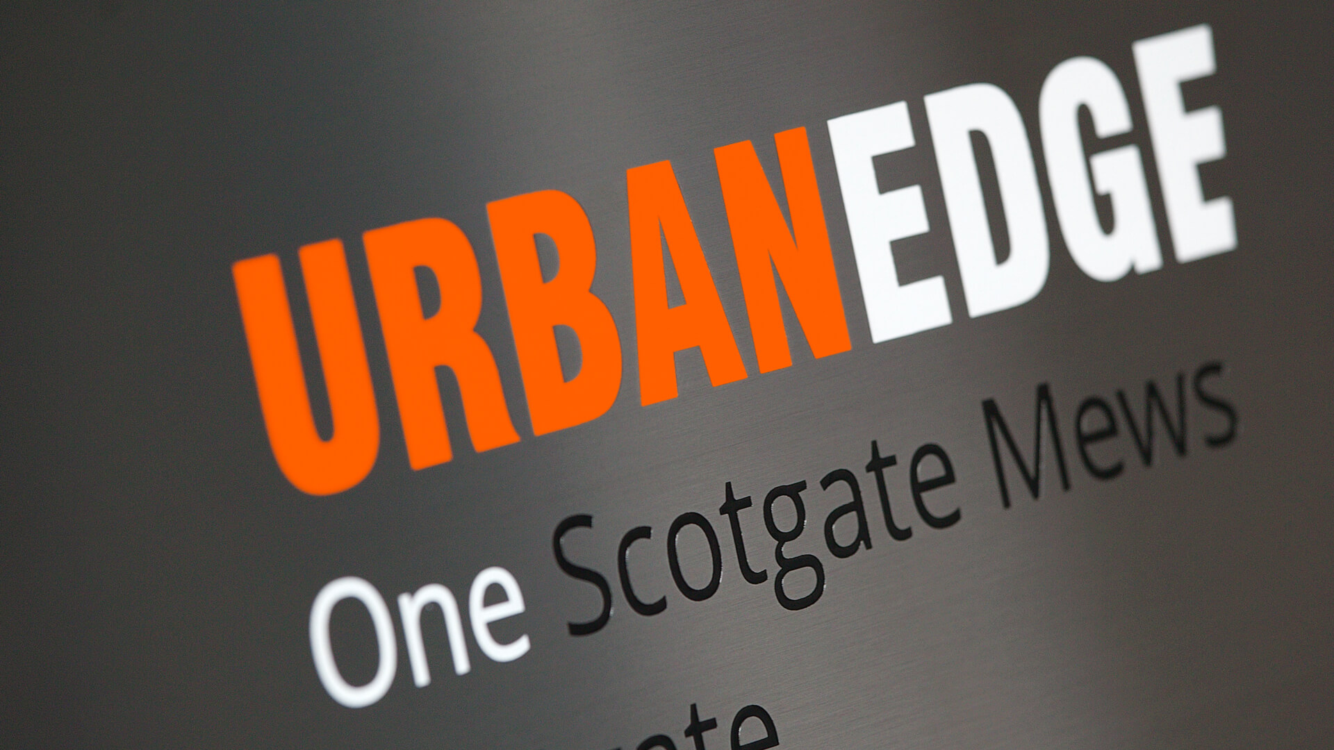 Urban Edge Architecture Sign