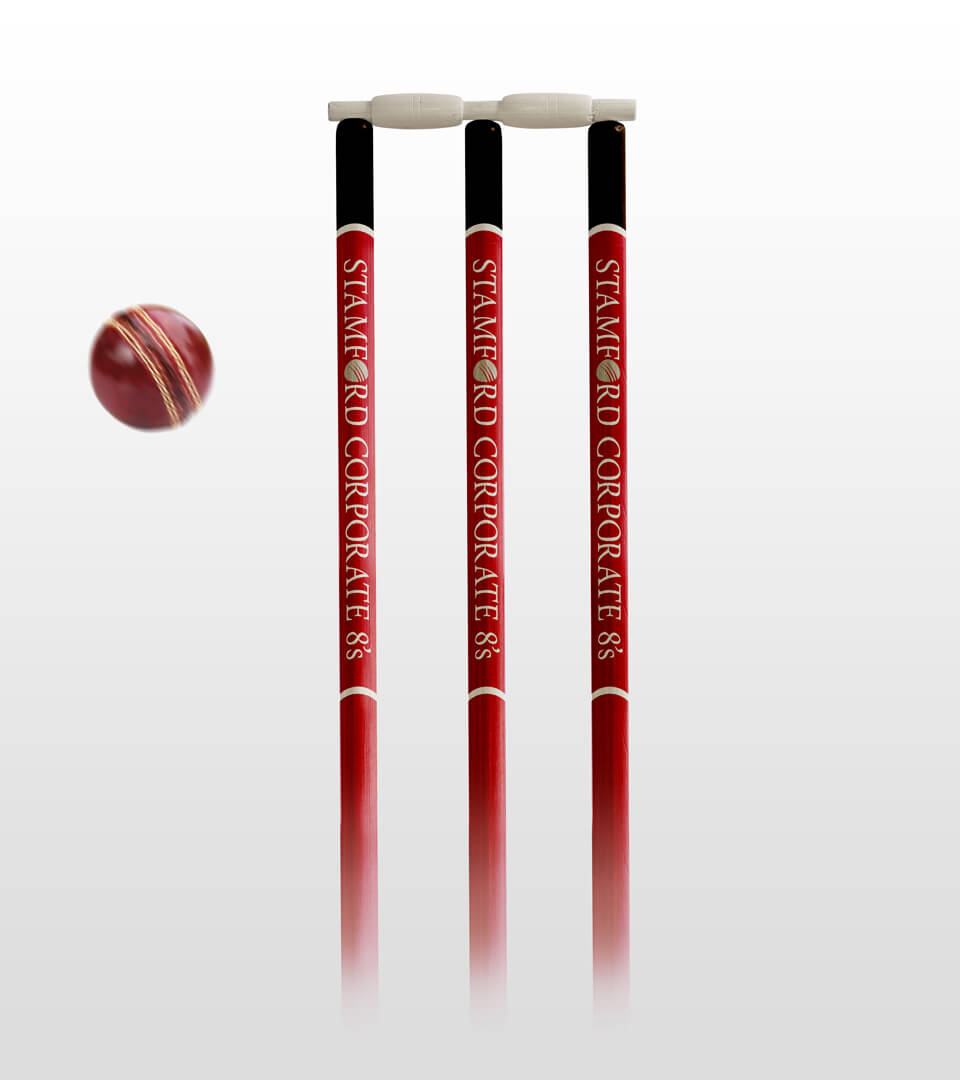 Stamford Corporate 8's Cricket Stumps