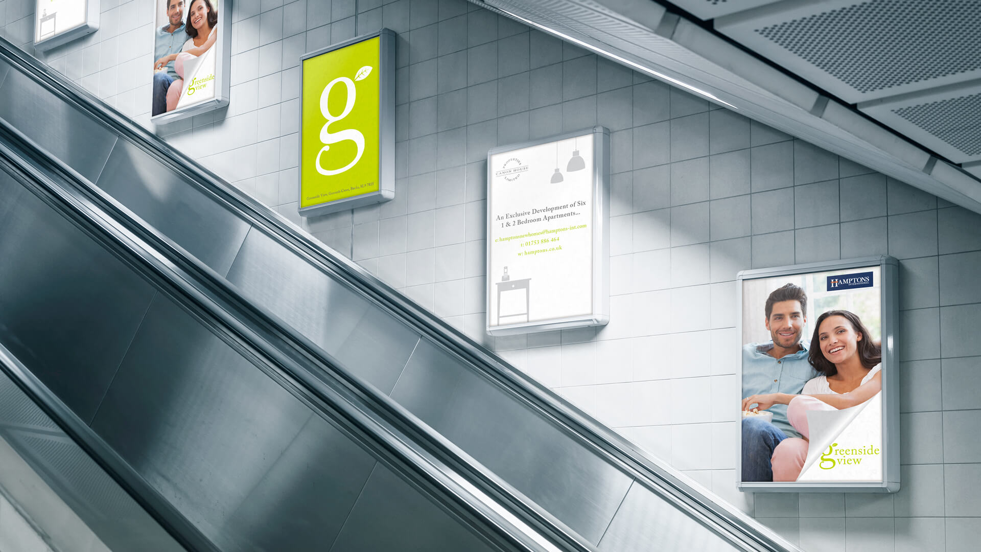 Greenside View Escalator Adverts