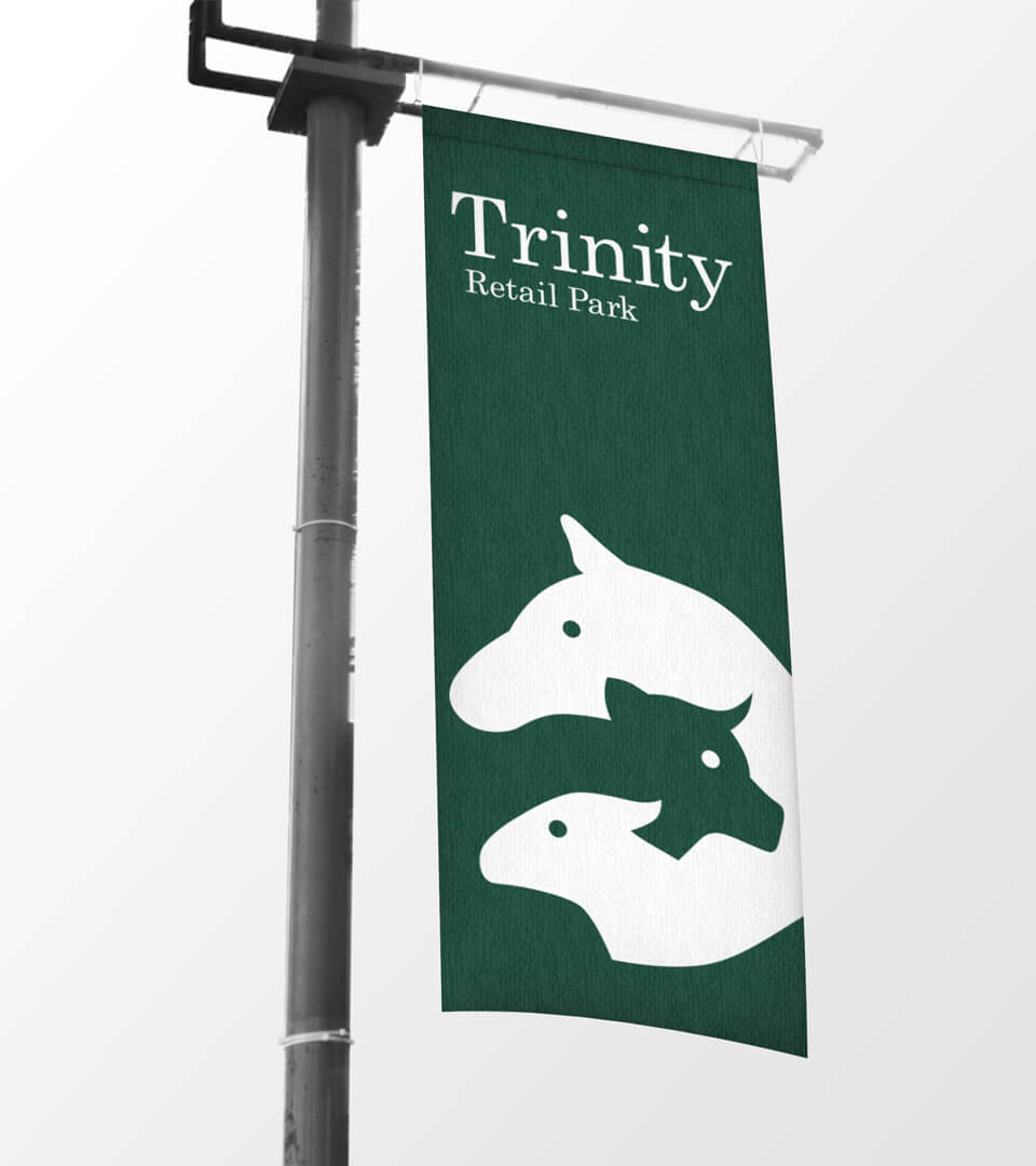 Trinity Retail Park Banner Sign