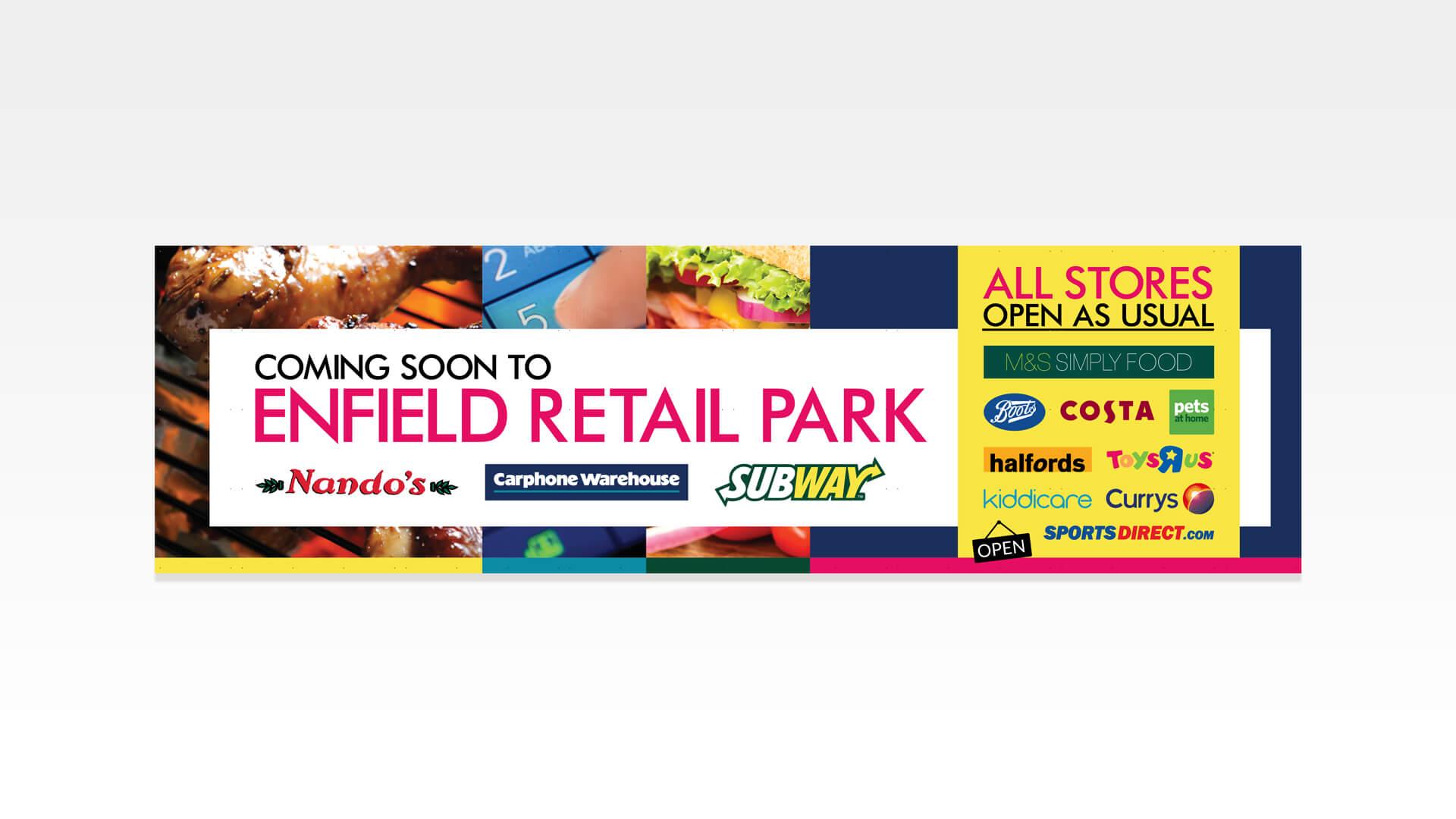 Enfield Retail Park Hoarding