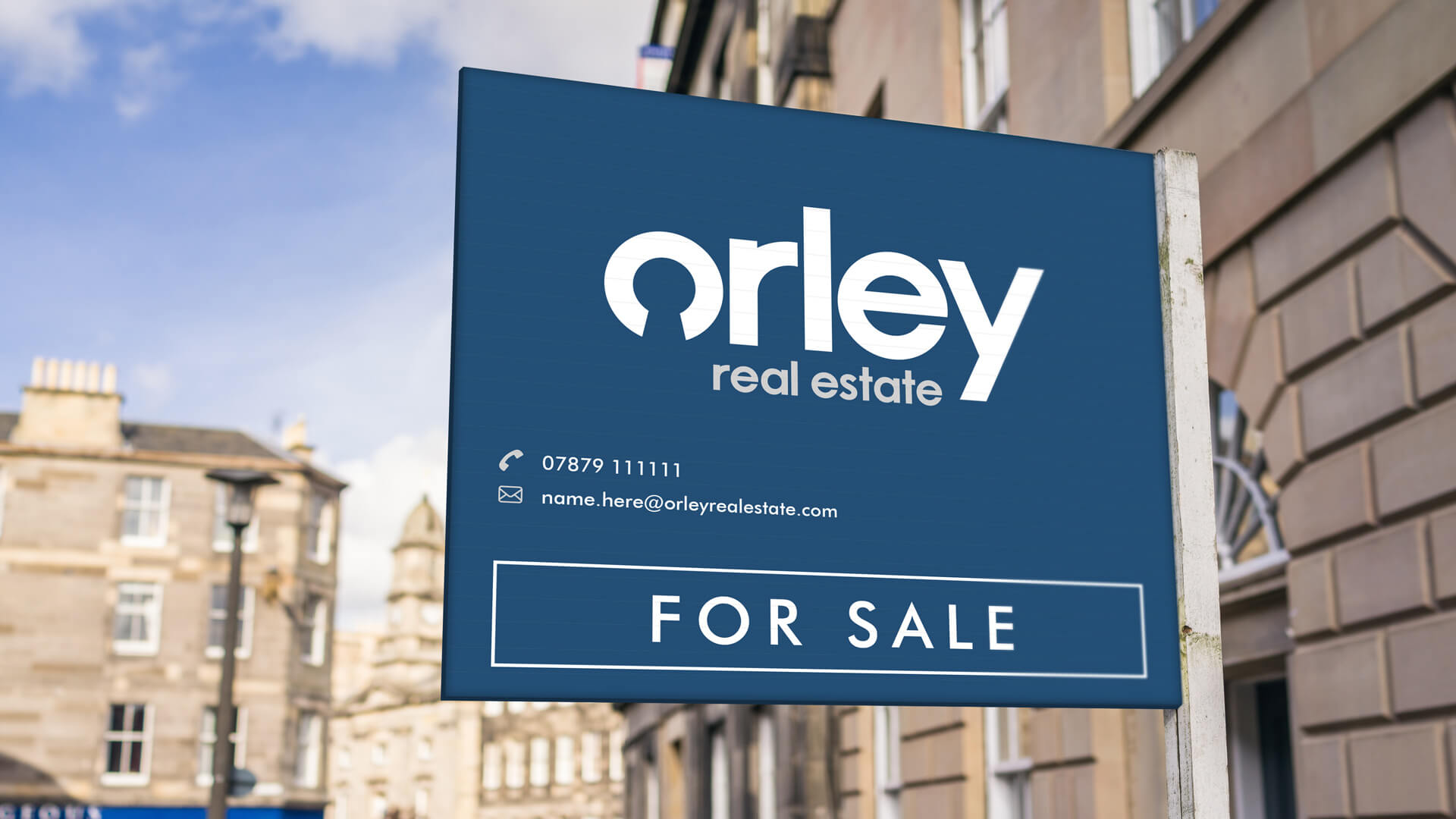 Orley Real Estate For Sale Sign