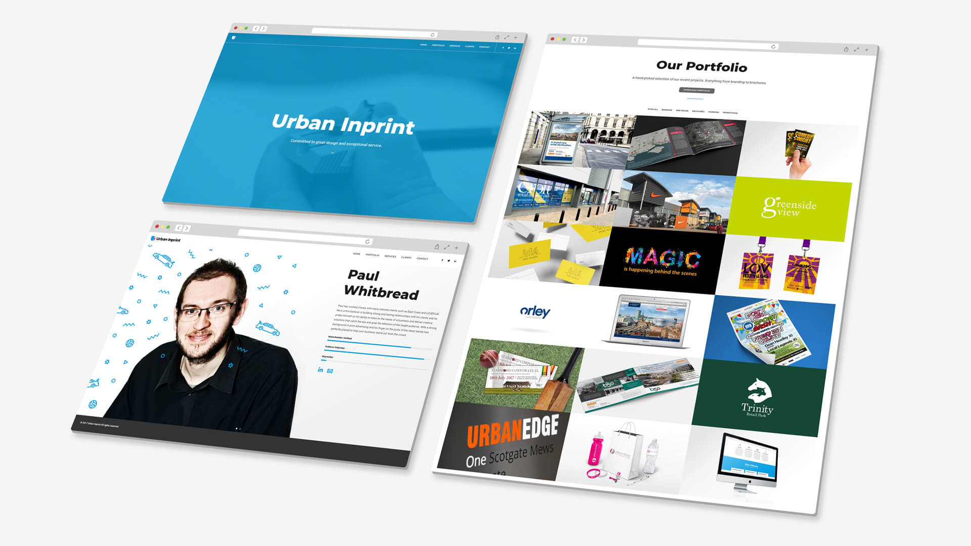Urban Inprint Website Concept