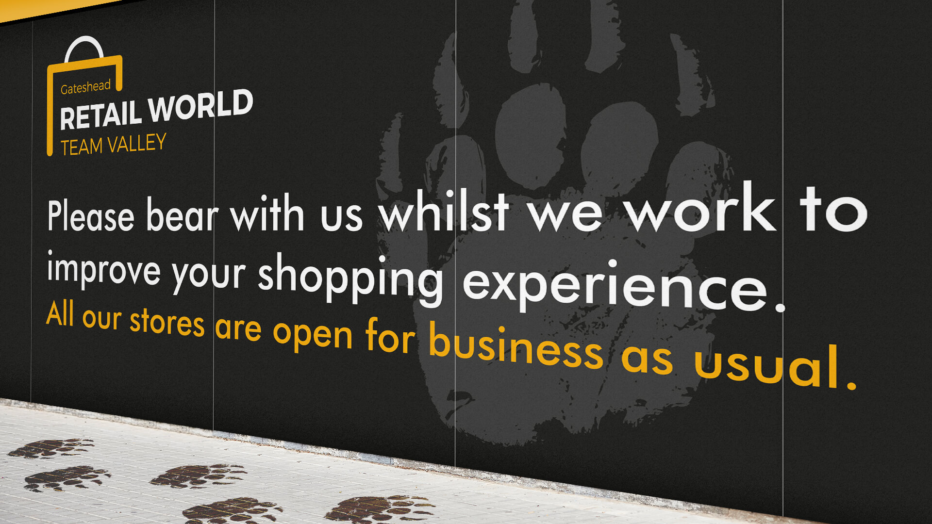 Retail World Hoarding Design